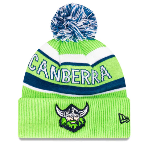 Canberra Raiders Beanie Lime Green NRL 2021 Official Collection New Era