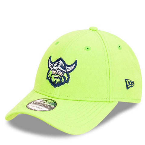 Canberra Raiders Hat Lime Green NRL 2021 Kick Off Snapback New Era