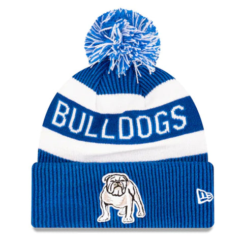 Canterbury Bankstown Bulldogs Beanie Blue NRL 2021 Official Collection New Era