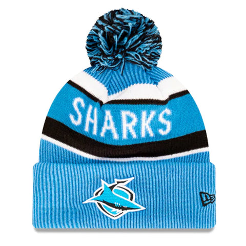 Cronulla Sutherland Sharks Beanie Blue NRL 2021 Official Collection New Era