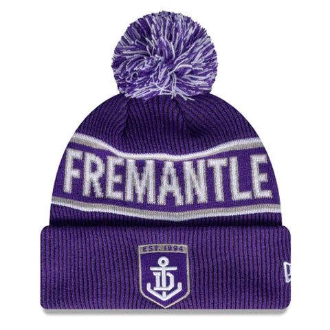 Fremantle Dockers Beanie Purple AFL 2021 Authentic Pom New Era