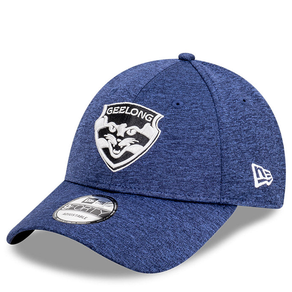Geelong Cats Hat - Navy Blue AFL 2021 Shadow Tech Metallic Snapback - New Era