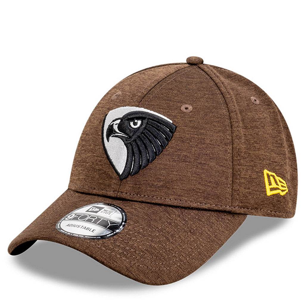 Hawthorn Hawks Hat Brown AFL 2021 Shadow Tech Metallic Snapback New Era