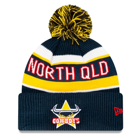 North Queensland Cowboys Beanie Navy Blue NRL 2021 Official Collection New Era