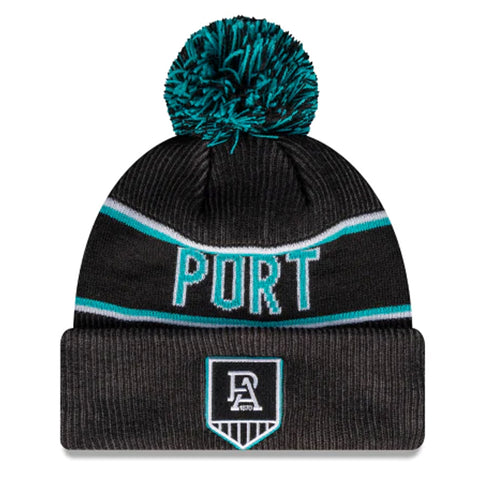 Port Adelaide Power Beanie Black AFL 2021 Authentic Pom New Era