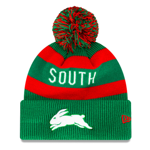 South Sydney Rabbitohs Beanie Green NRL 2021 Official Collection New Era