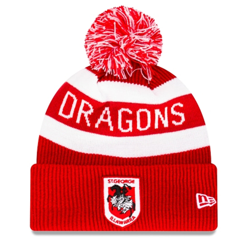 St George Illawarra Dragons Beanie Red NRL 2021 Official Collection New Era