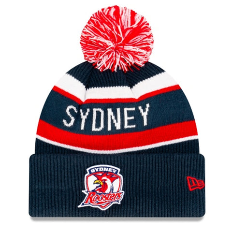 Sydney Roosters Beanie Navy Blue NRL 2021 Kick Off Snapback New Era