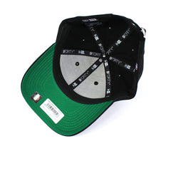 Boston Celtics Hat Black Team Stripes Strapback New Era