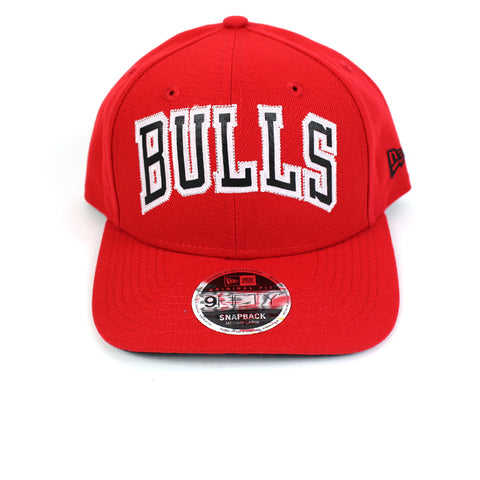 New Era Chicago Bulls BBall Jersey Red Precurved Snapback
