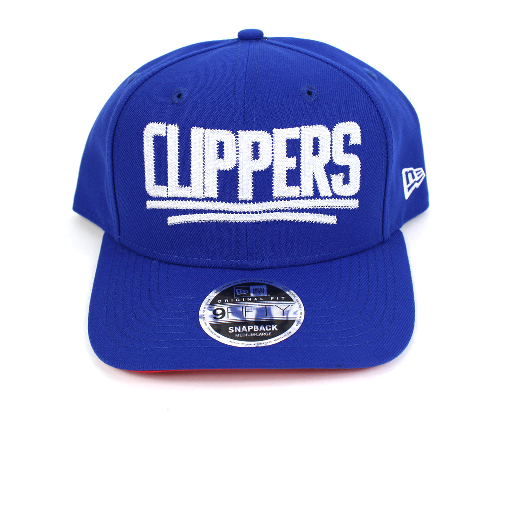 New Era LA Clippers BBall Jersey Blue Precurved Snapback