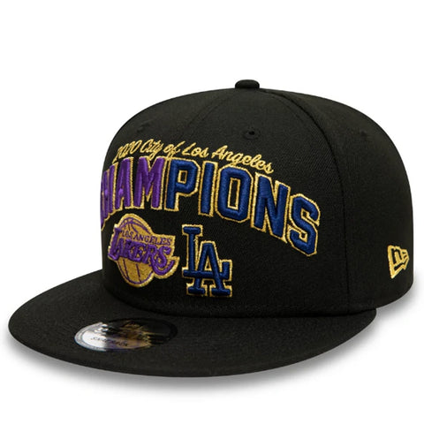 Los Angeles Hat Black 2020 Champions Lakers & Dodgers Snapback New Era