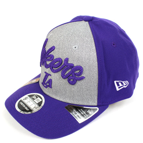 New Era LA Lakers NBA 20 Draft Curved Snapback