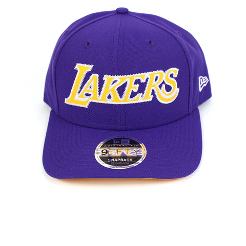 New Era LA Lakers BBall Jersey Purple Precurved Snapback