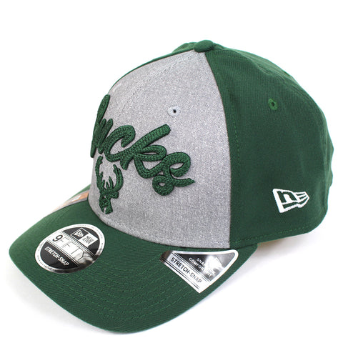 New Era Milwaukee Bucks NBA 20 Draft Curved Snapback