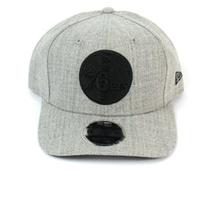 Philadelphia 76ers Hat Grey Black Out Logo Snapback New Era