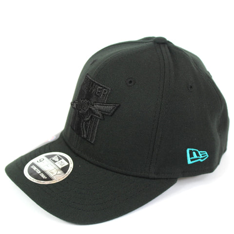 New Era Port Adelaide Power Black On Black Precurved Snapback