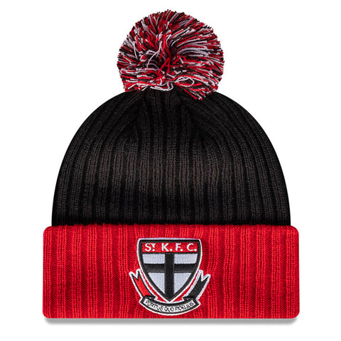 St Kilda Saints Beanie Black AFL 2021 Plain Cuff OTC New Era