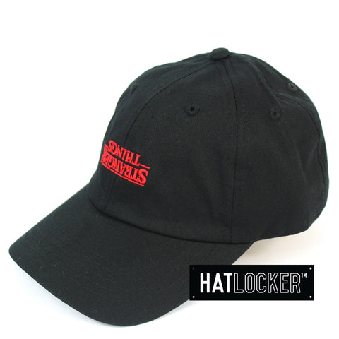 Ikon Stranger Things Logo Upside Down Black Strapback