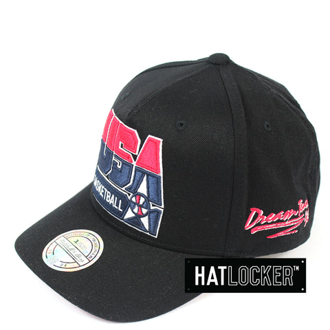 Mitchell & Ness 92 USA Basketball Black Brim Curved Snapback