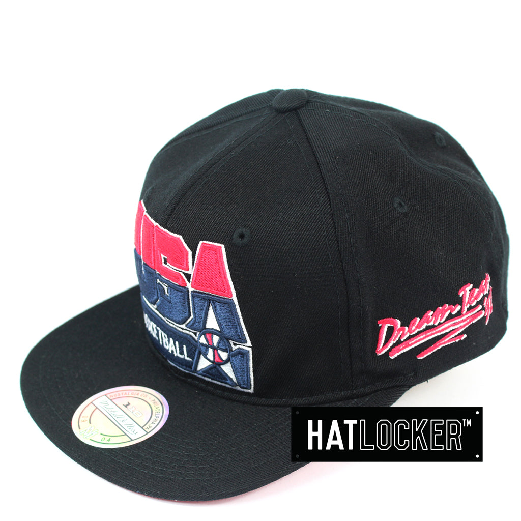 Mitchell & Ness 92 USA Basketball Black Vintage Retro Crown Snapback