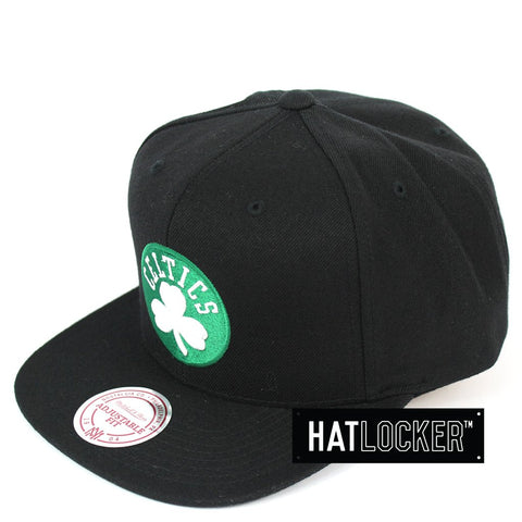 Mitchell and Ness Boston Celtics Black Colour Logo Snapback