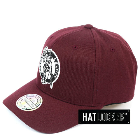 Mitchell & Ness Boston Celtics Colour Pop Burgundy Curved Snapback