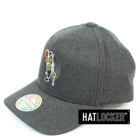 Mitchell & Ness Boston Celtics Decon Grey Curved Snapback