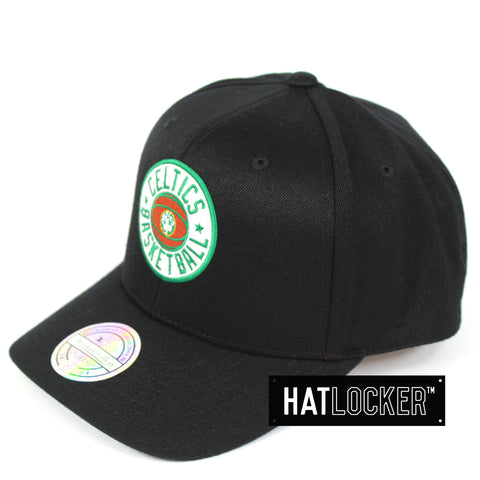 Mitchell & Ness Boston Celtics Full Court Logo 110 Curved Snapback