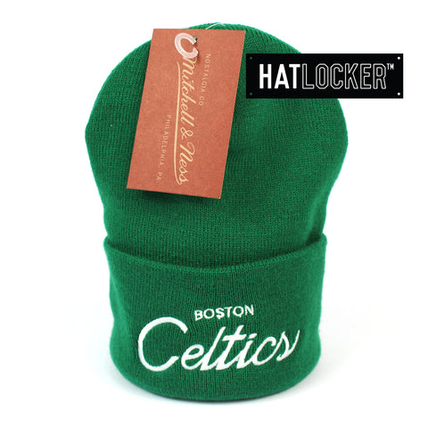 Mitchell and Ness Boston Celtics Special Script Green Knit Beanie