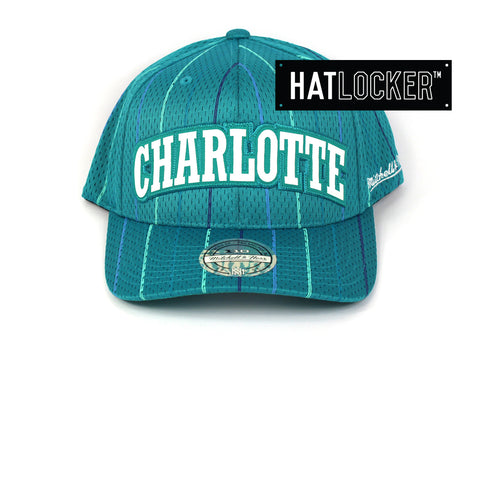 fc5bb664c67 Mitchell   Ness Charlotte Hornets Icon 110 Curved Snapback Hat