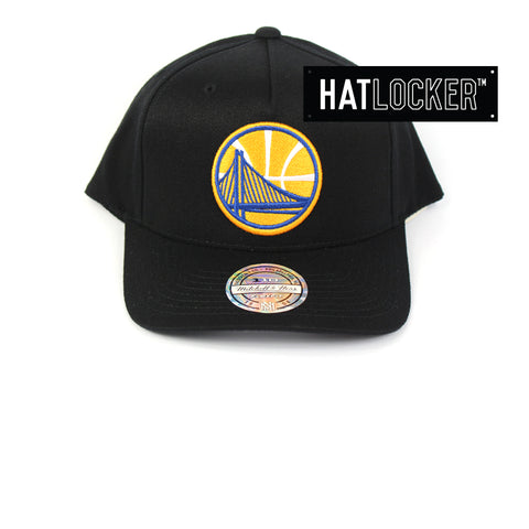 Mitchell & Ness Golden State Warriors Colour Logo 110 Curved Snapback