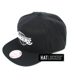 Mitchell & Ness LA Lakers B&W Logo High Crown Snapback Hat
