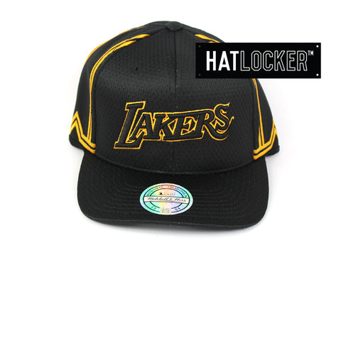 336a333e038 Mitchell   Ness LA Lakers City Series 110 Curved Snapback