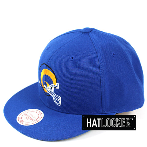 Mitchell & Ness LA Rams Retro Crown Throwback Snapback