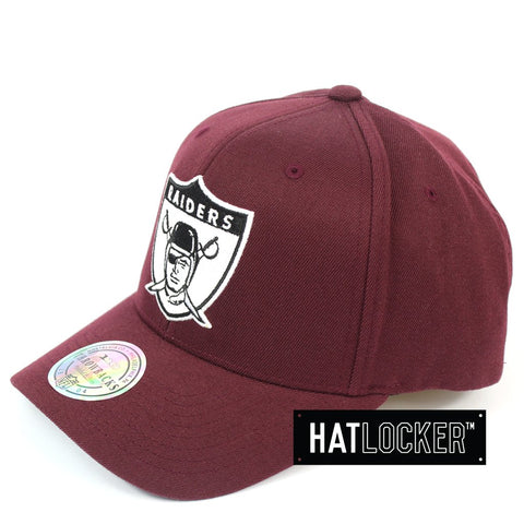 Mitchell & Ness Oakland Raiders Colour Pop Burgundy Curved Snapback