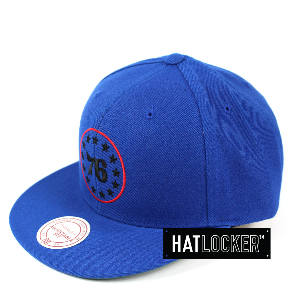 Mitchell & Ness Philadelphia 76ers Retro Crown Throwback Snapback