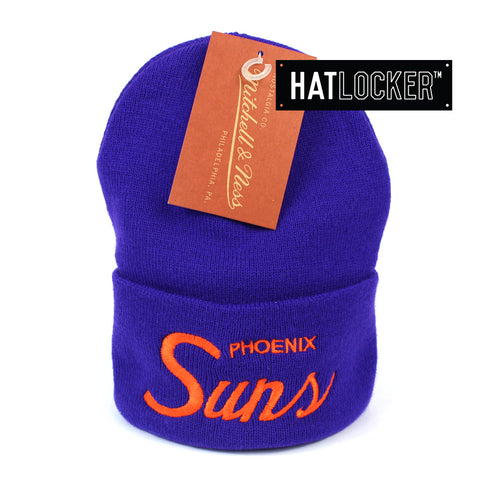 Mitchell and Ness Phoenix Suns Special Script Purple Knit Beanie