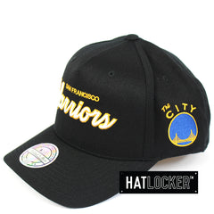 Mitchell & Ness San Francisco Warriors 110 Script Colour Pop Curved Snapback