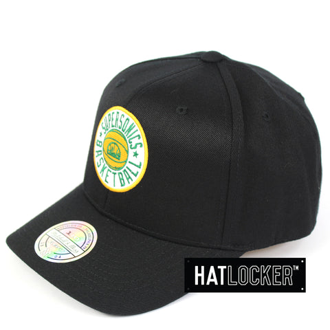 Mitchell & Ness Seattle Supersonics Full Court Logo 110 Curved Snapback