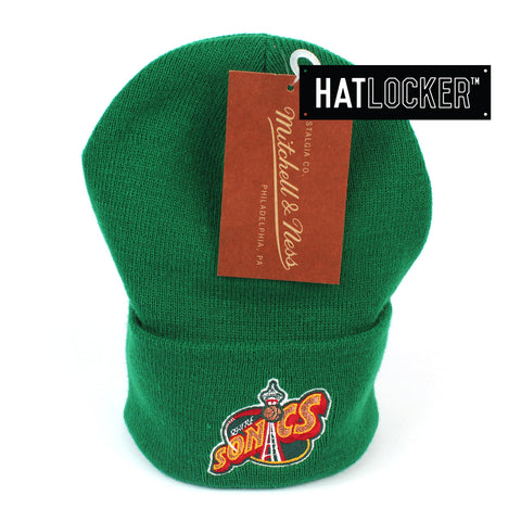 Mitchell and Ness Seattle SuperSonics HWC Logo Knit Beanie