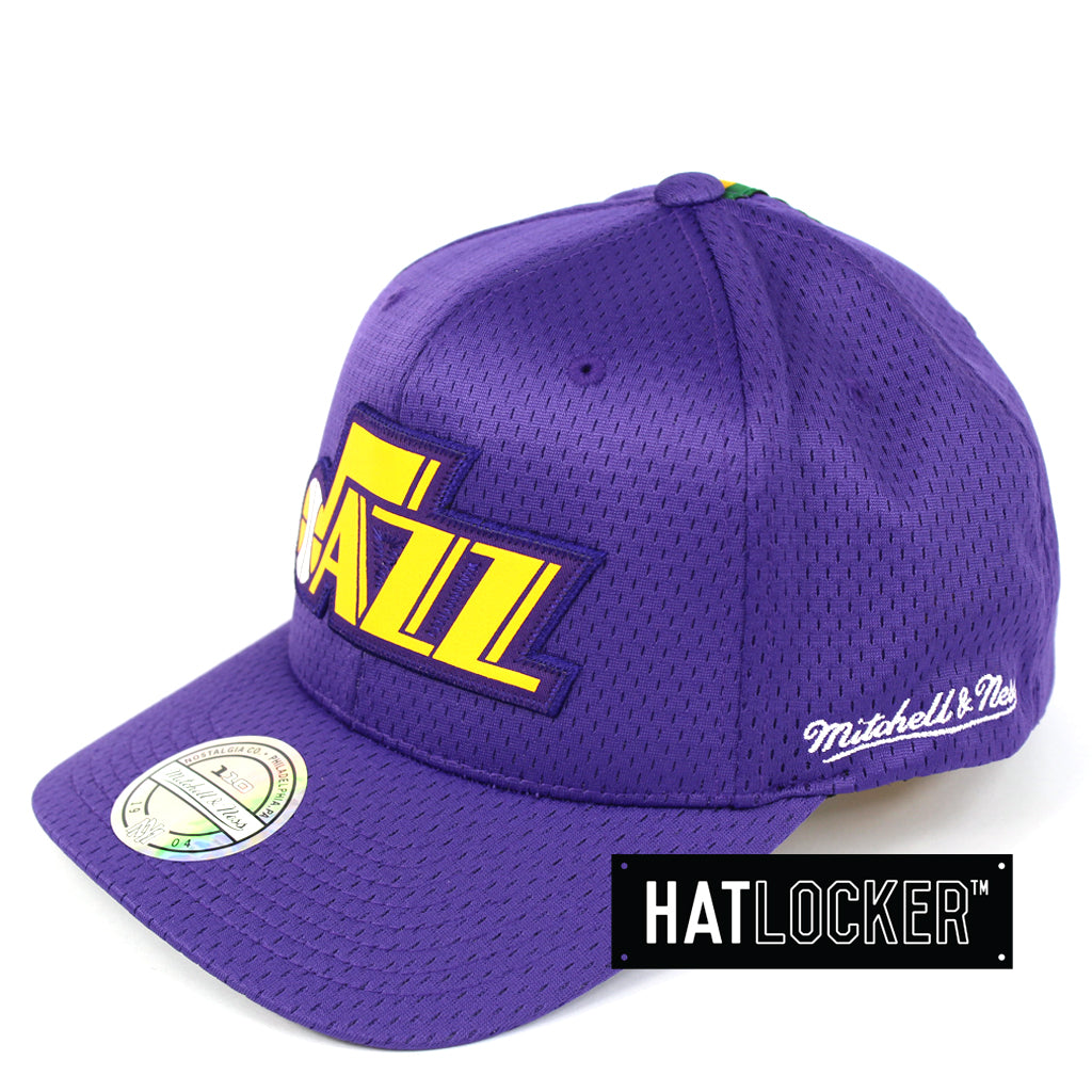 62dc95f05a6 Mitchell & Ness | NBA Utah Jazz Icon 110 Curved Snapback Hat – Hat ...