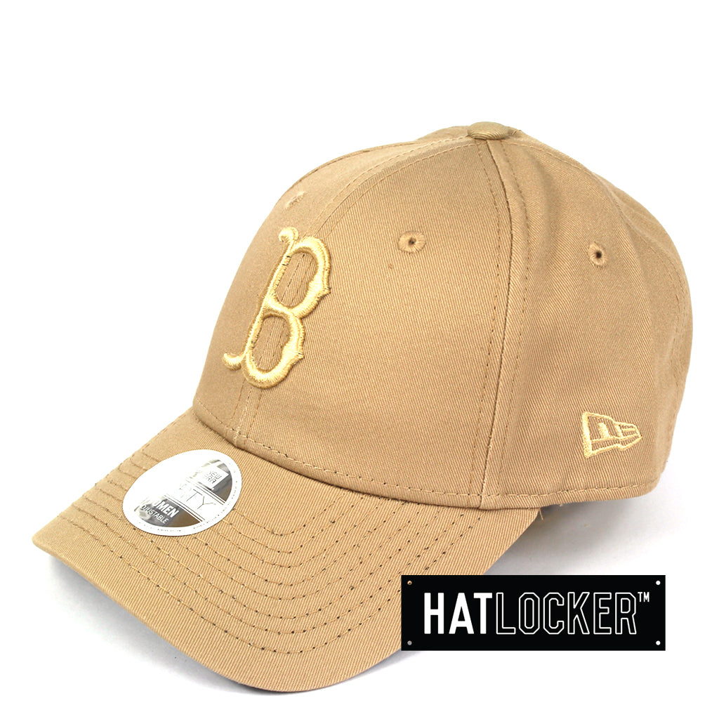 New Era Women's Boston Red Sox Camel Curved Brim Hat