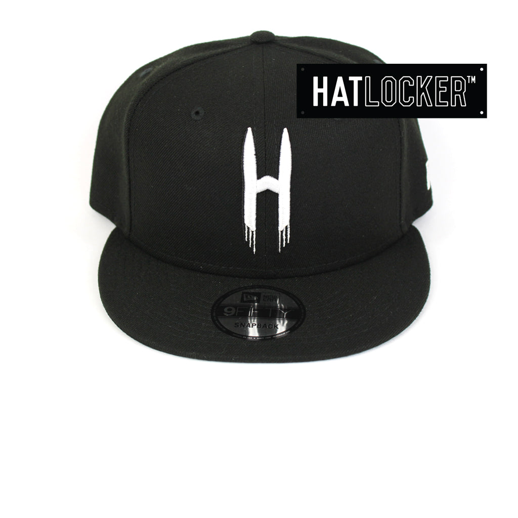New Era Houston Rockets Back Half Black Snapback Cap