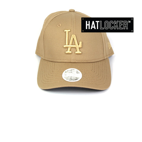 New Era Women's LA Dodgers Camel Curved Brim Hat