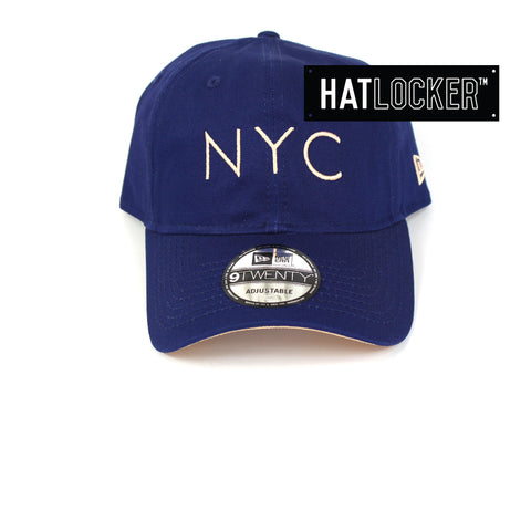 New Era New York City Dark Royal Curved Brim Hat