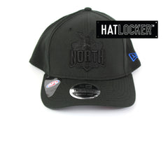 New Era North Melbourne Kangaroos Black On Black Precurved Snapback