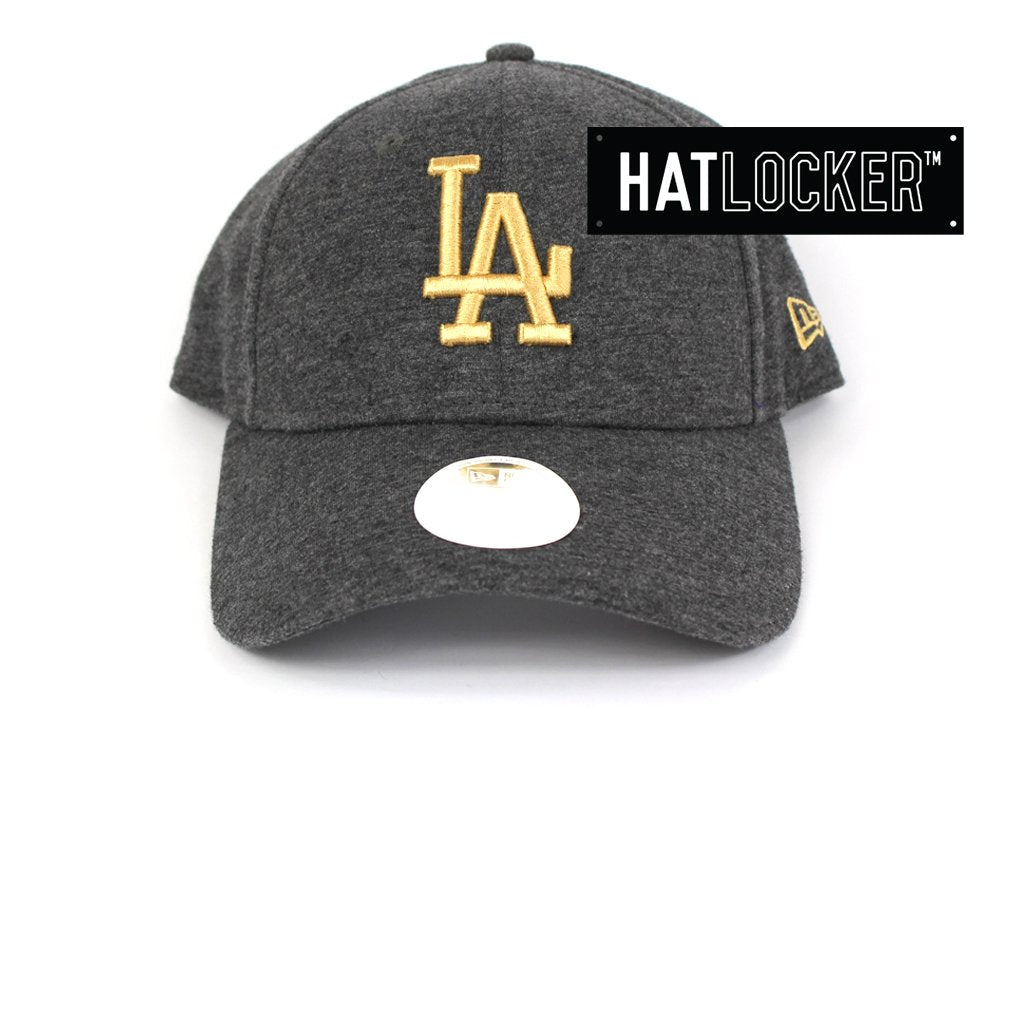 New Era Womens LA Dodgers Black & Gold Curved Strapback