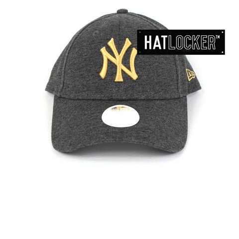 New Era Womens New York Yankees Black & Gold Curved Brim