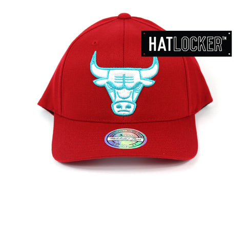 Mitchell & Ness Chicago Bulls Red Teal High Crown Snapback